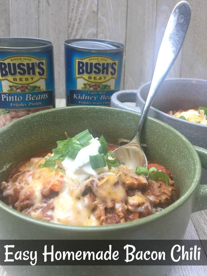 easy homemade chili with bacon