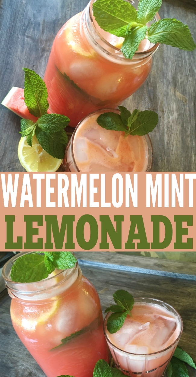 This watermelon mint lemonade is the perfect summer drink.