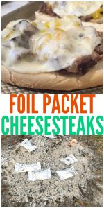 Foil Packet Meal   Cheesesteak Sandwich