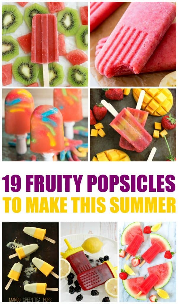 These fruity popsicles are perfect for summer.