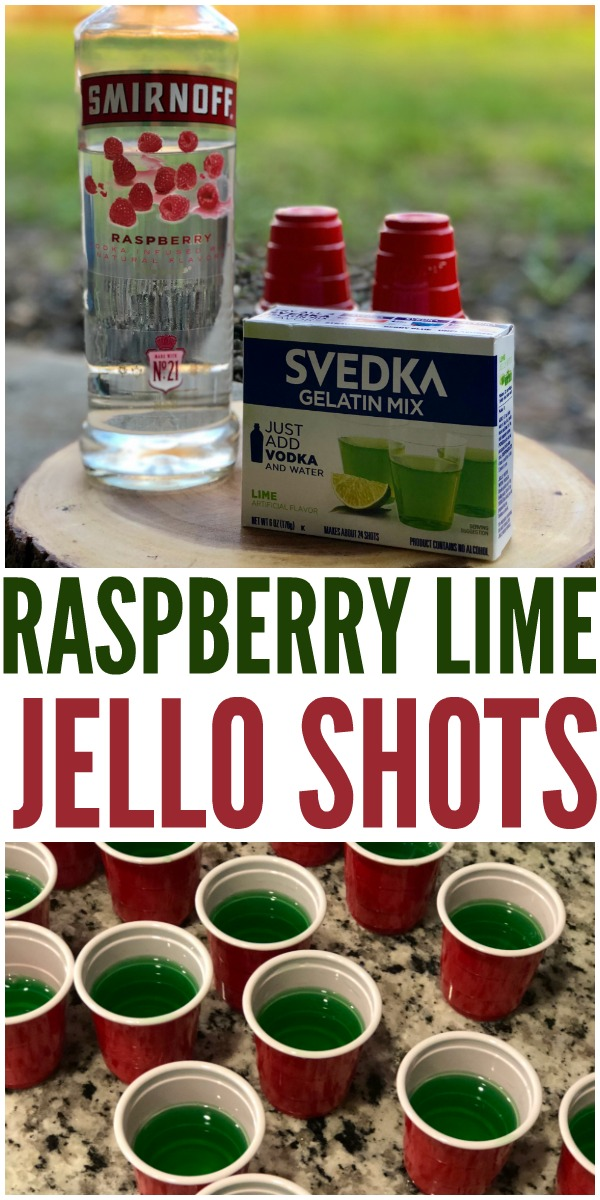 Need some fun party drinks? These jello shot cups are super easy to make and are so yummy! Lime jello shots & raspberry jello shots.