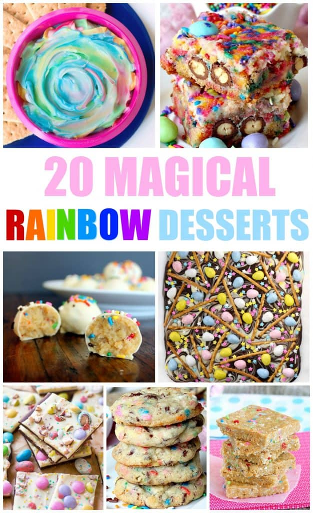 Desserts are so fun and they are even better when you get a little creative with them. These rainbow desserts are the perfect kid friendly desserts.