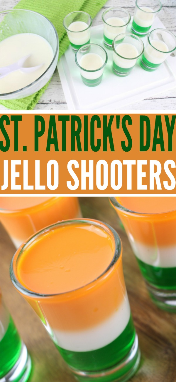 St. Patrick's Day Ice Cream Jell-O Ok, so these ice cream Jell-O shots don't technically contain any alcohol, but the remedy is easy: Swap out half of the water for vodka. Get the recipe at Food.