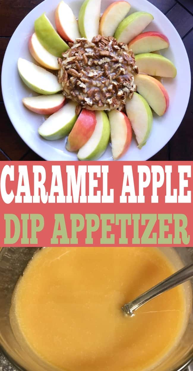 This caramel apple dip appetizer is an easy appetizer for any party. Apple recipes | Caramel Recipes | fall recipes