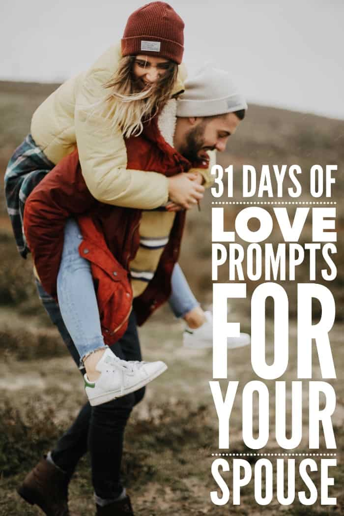 Ready to create the marriage you've always wanted. Take these 31 days of love prompts to better your marriage.