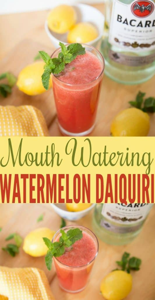 This watermelon daiquiri recipe is delicious and the perfect summer drink. It's also a great drink for any summer parties you have.