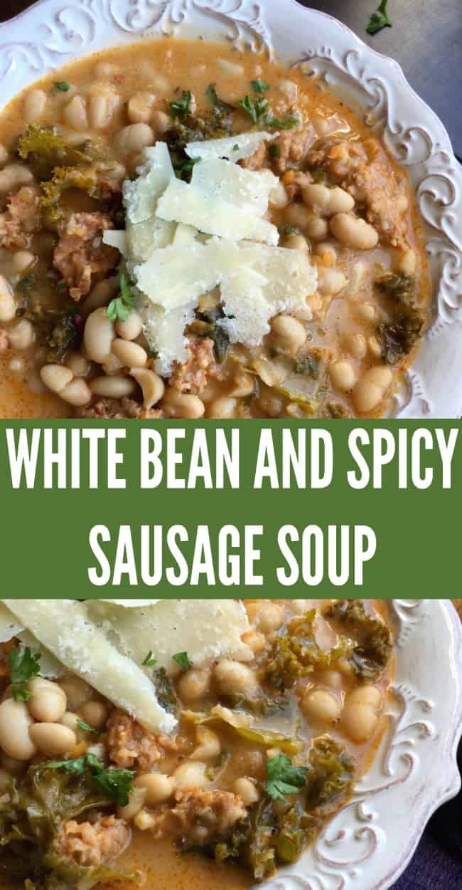 White bean and sausage soup. One skillet dish.