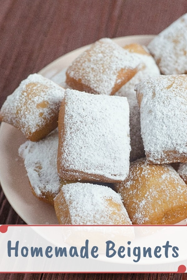 This easy beignets recipe is the perfect alternative to Cafe de Monde. It's not a copycat recipe but it's pretty darn close.  #easydesserts #beignets