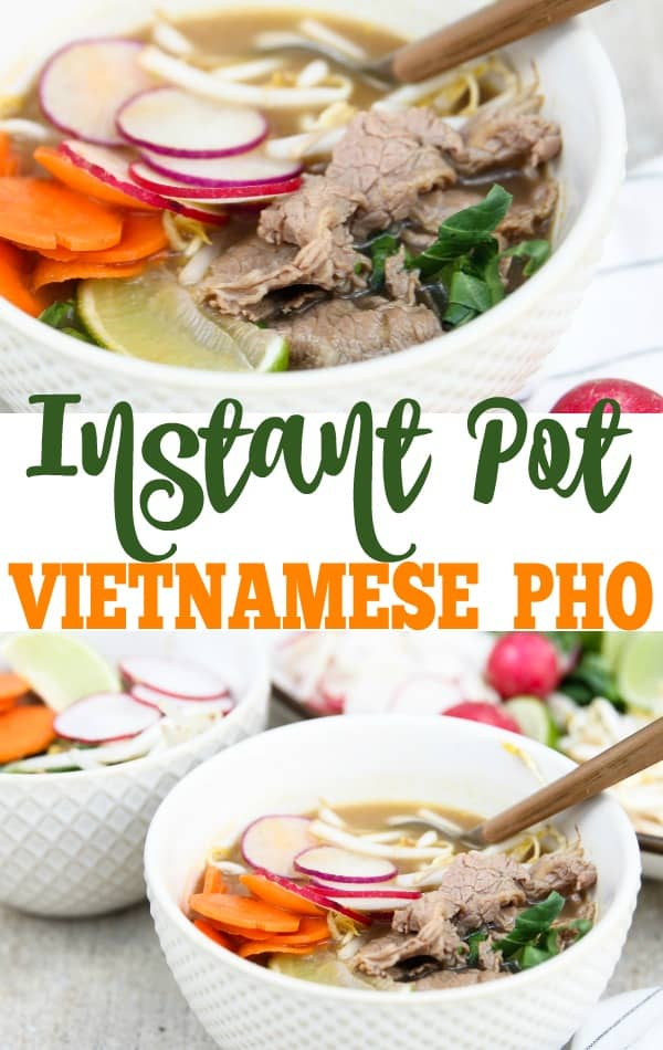 This Instant Pot Pho is absolutely delicious and fairly easy to whip together. If you want a good homemade pho recipe, this is the ONE for you!