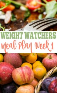 Weight Watchers Meal Plan Week One