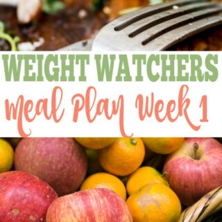 Weekly Weight Watchers Meal Plan (smart points included). Weight Watchers recipe, Weight Watchers food ideas.