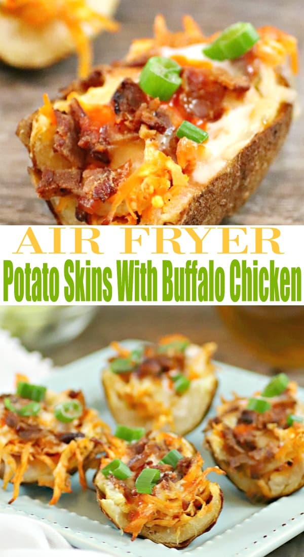 air fryer potato skins, instant pot buffalo chicken