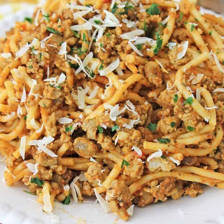 Vegan Spaghetti Recipe with Marinara
